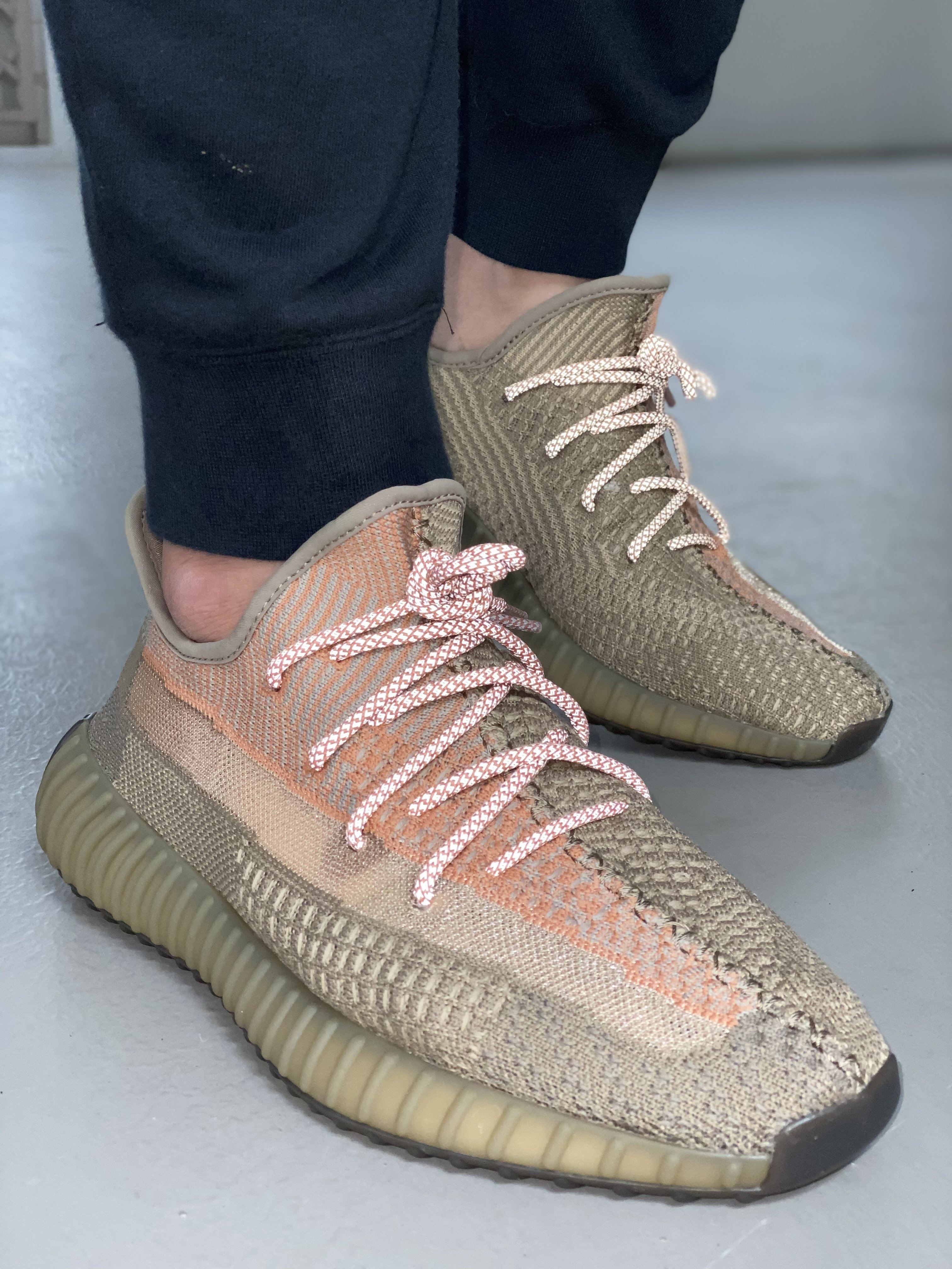 Yeezy Laces 3M Reflective Rope - Static Sand Orange for Yeezy ...