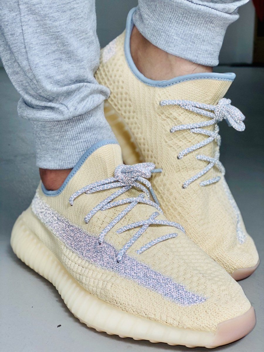 Yeezy Laces 3M Reflective Rope V2 - Linen Blue for Yeezy Boost 350 V2 Linen / Ash Blue