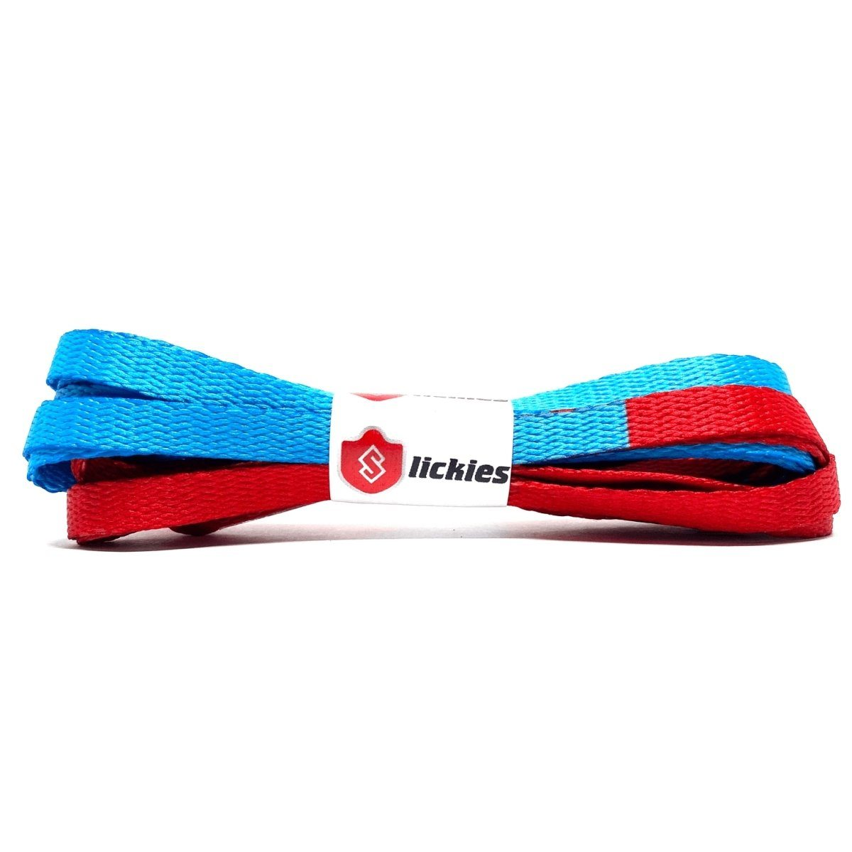 Basics 2Tone Jordan Flat Laces - AJ1 Fearless UNC Chicago Blue And Varsity Red