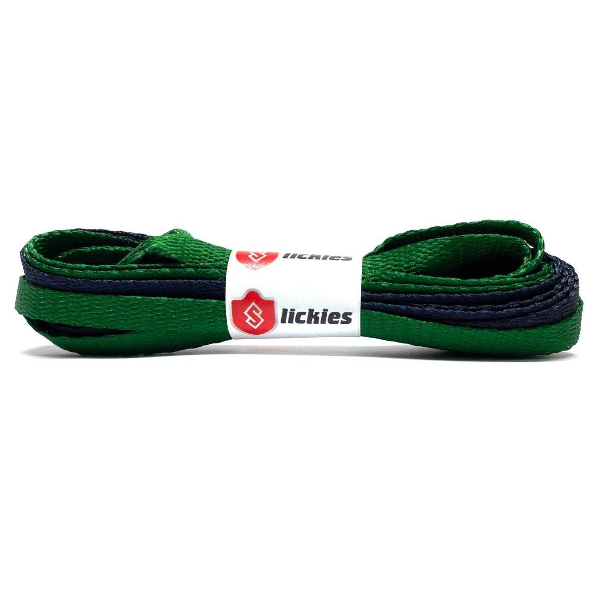 Basics 2TONE Jordan Flat Laces - Black With Pine Green Tips For Air Jordan 1 Pine Green