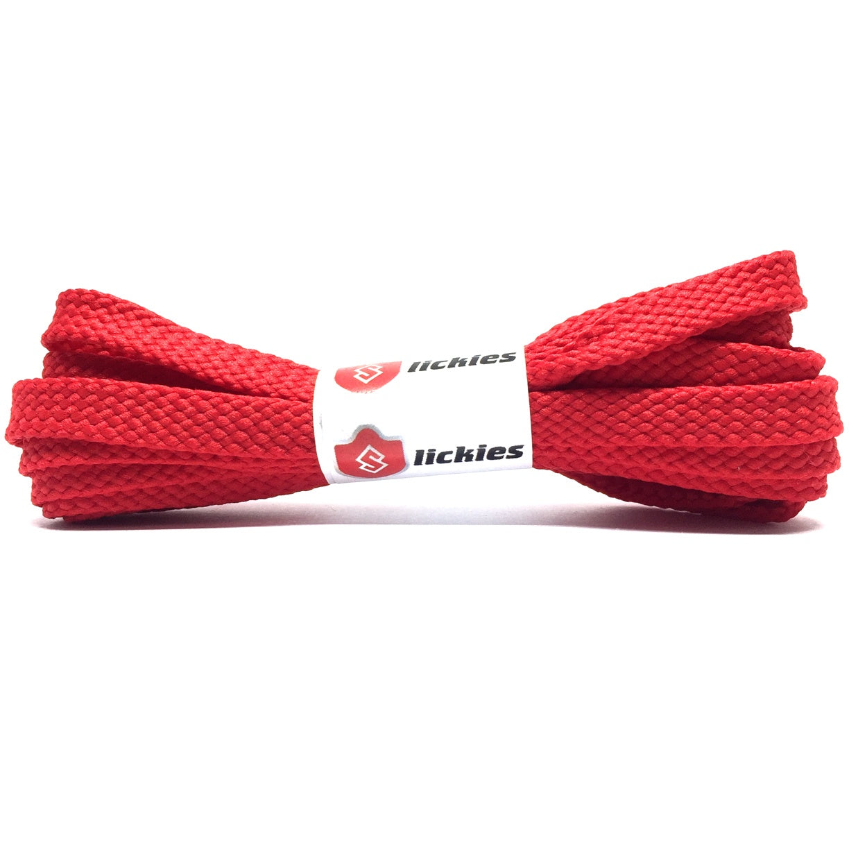 Basics Flat Tubular 8MM Laces - Red