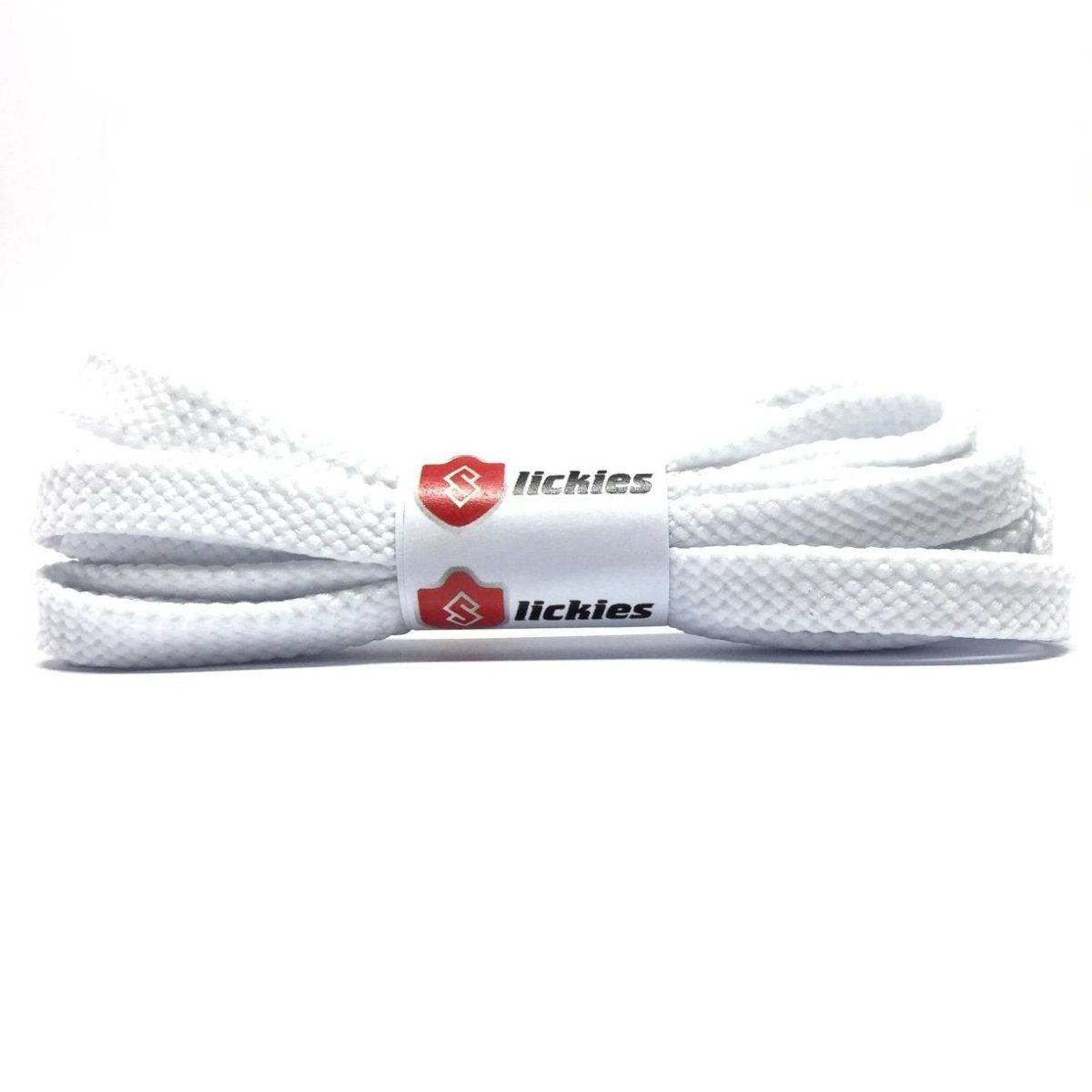 Basics Flat Tubular 8MM Laces - White