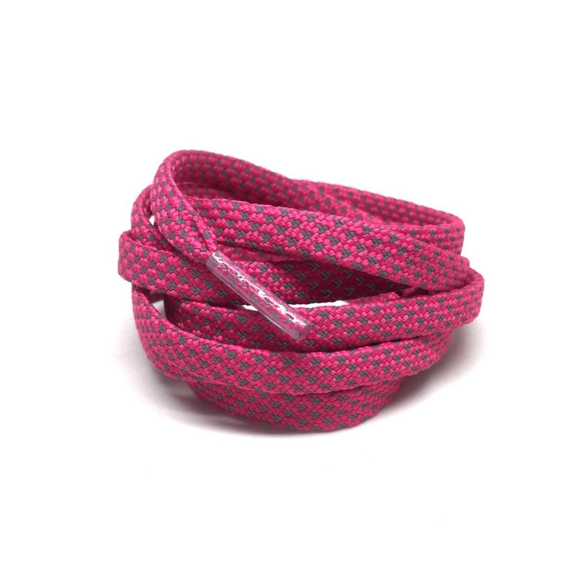 Flat Thin - 3M Reflective Flat Laces - Flash Pink