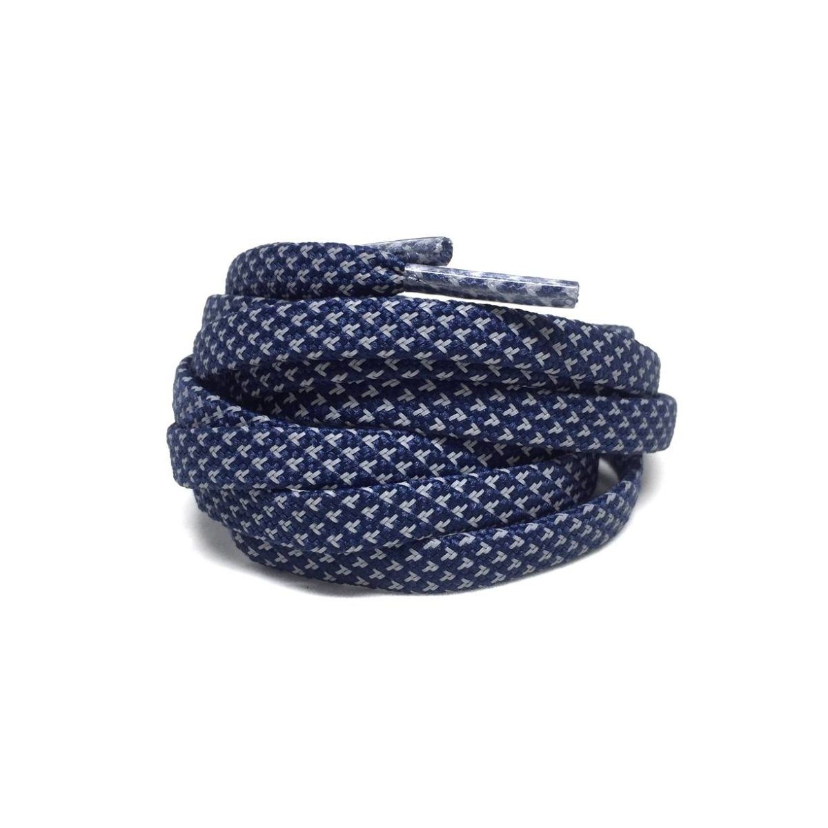 Flat Thin - 3M Reflective Flat Laces - Navy Blue