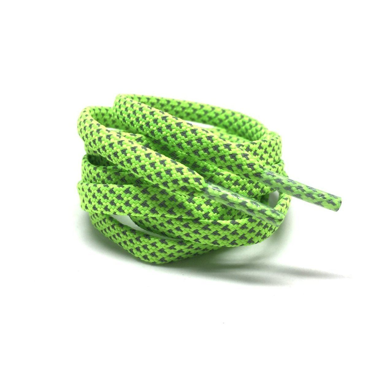Flat Thin - 3M Reflective Flat Laces - Neon Green