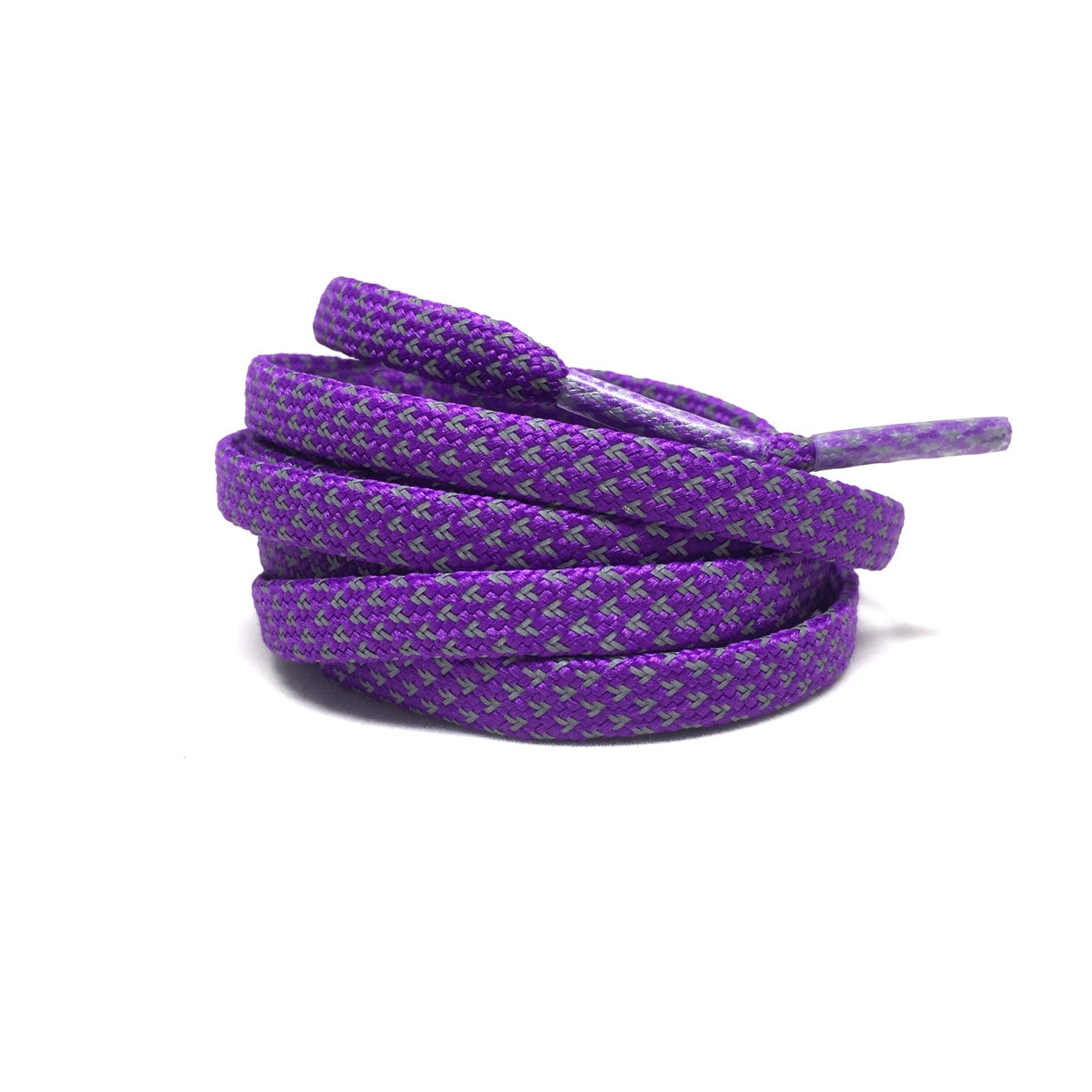 Flat Thin - 3M Reflective Flat Laces - Purple
