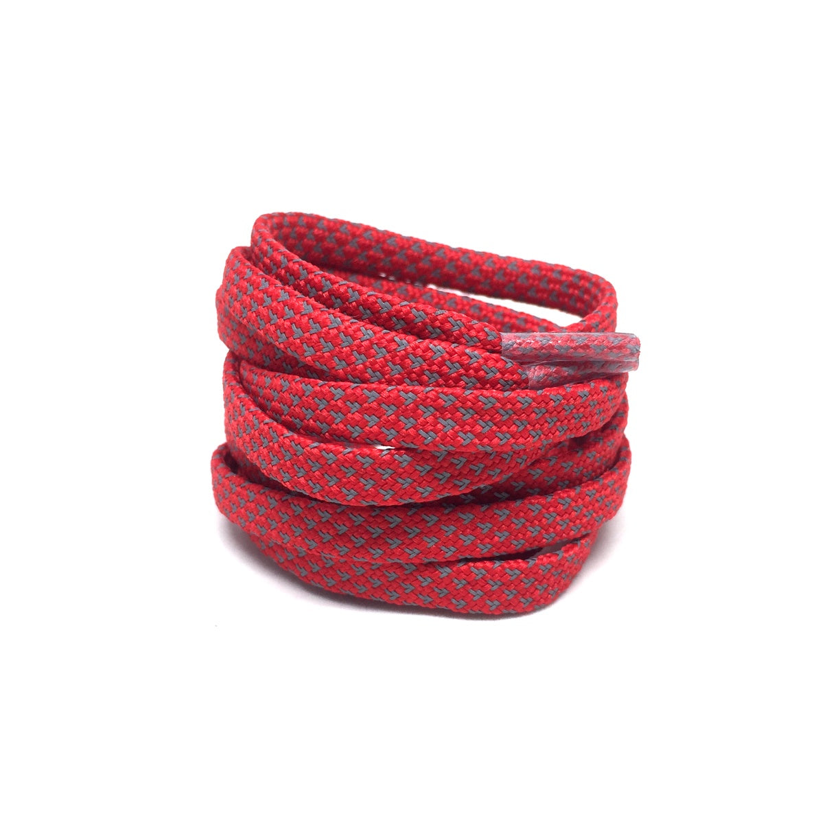 Flat Thin - 3M Reflective Flat Laces - Red