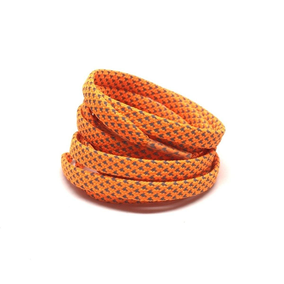 Flat Thin - 3M Reflective Flat Laces - Vibrant Orange