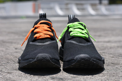 Flat Thin - NMD / Ultra Boost Japanese Katakana Flat Laces - Vibrant Orange