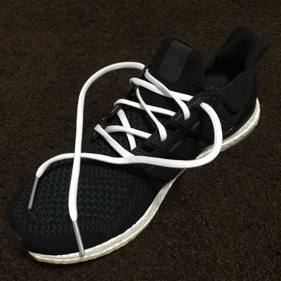 Flat Thin - Ultra Boost BASICS Flat Laces - White With Silver Tips
