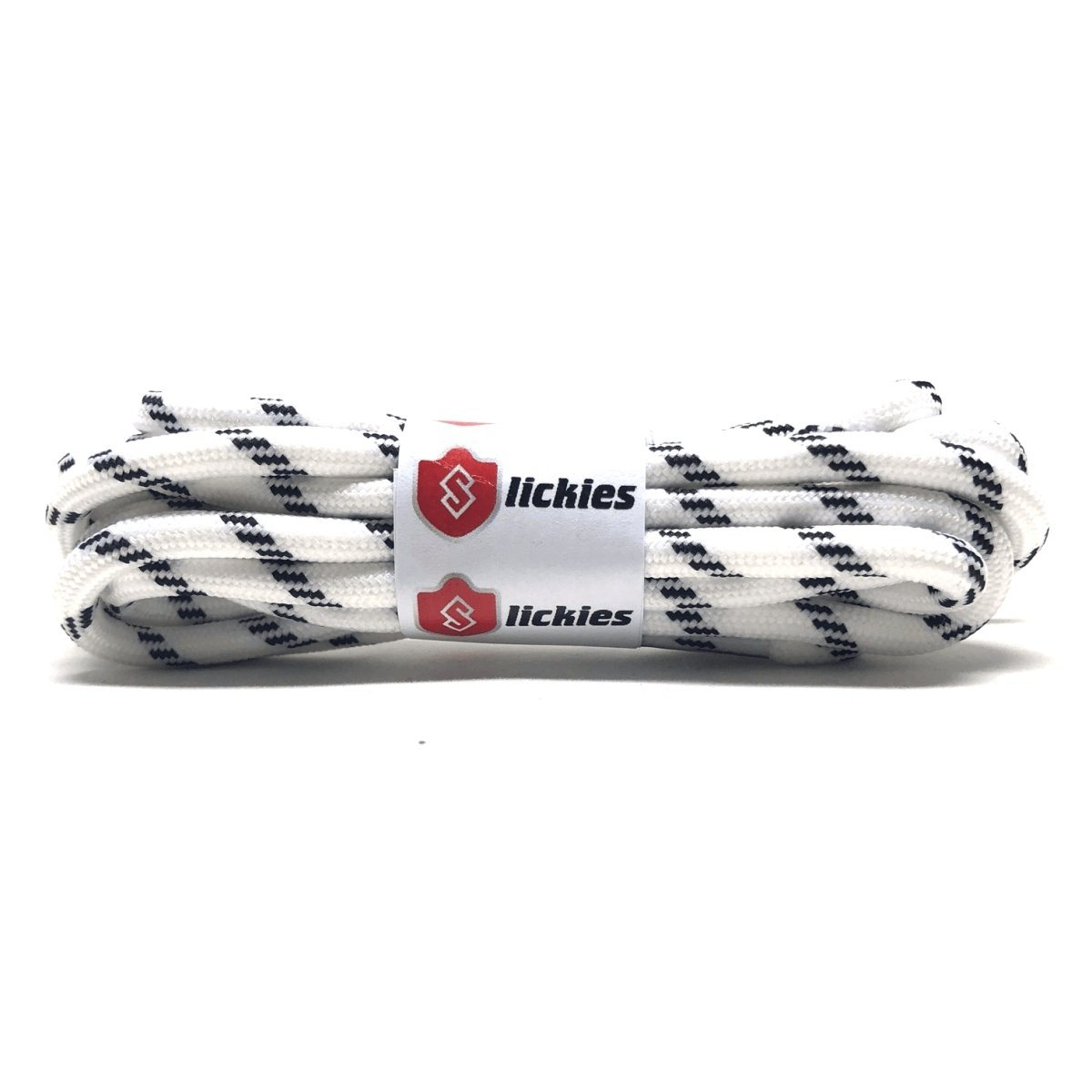 Rope Laces - 2TONE Rope Laces -  White With Black Diamonds