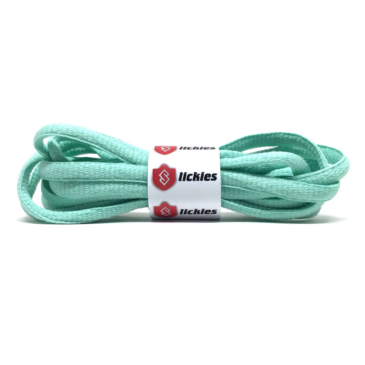 Semi-Circle - BASICS Oval Laces - Mint Green