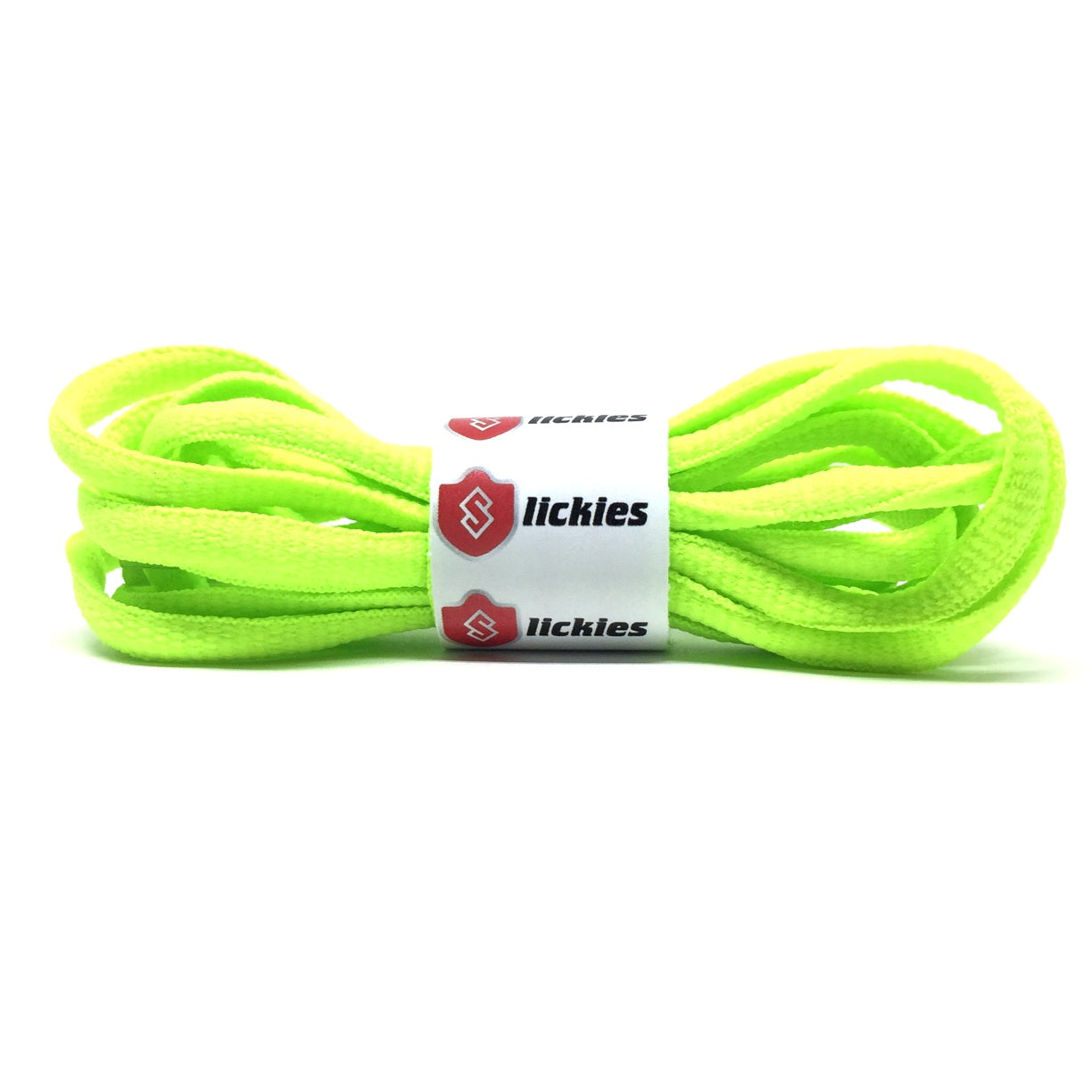 33261a0c6e540 BASICS Oval Laces - Neon Green - Slickies