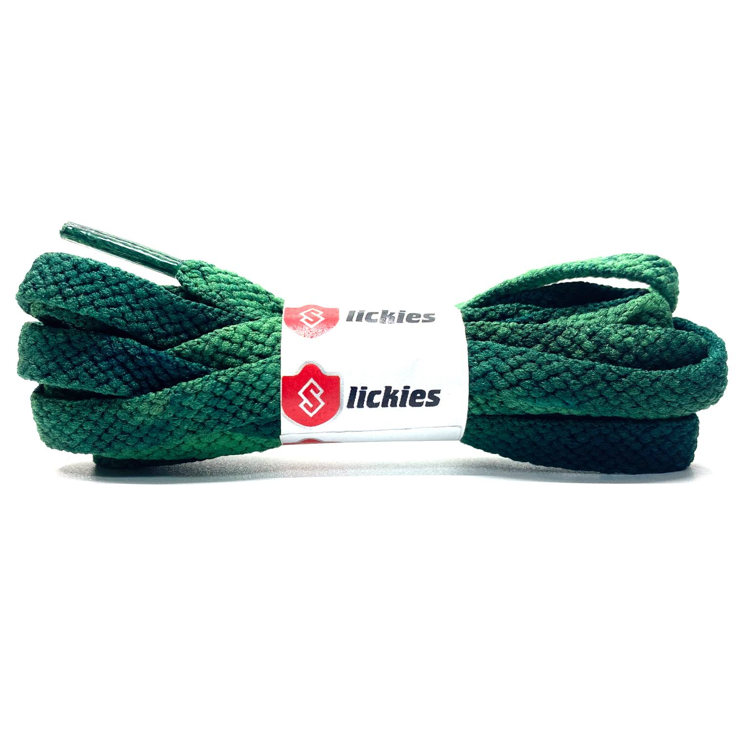 Tie Dye Flat Laces - Vintage Faded Green For Air Jordan 1