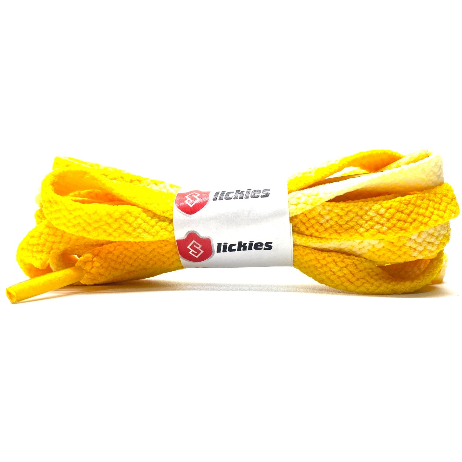Tie Dye Flat Laces - Vintage Faded Maize Yellow For Air Jordan 1