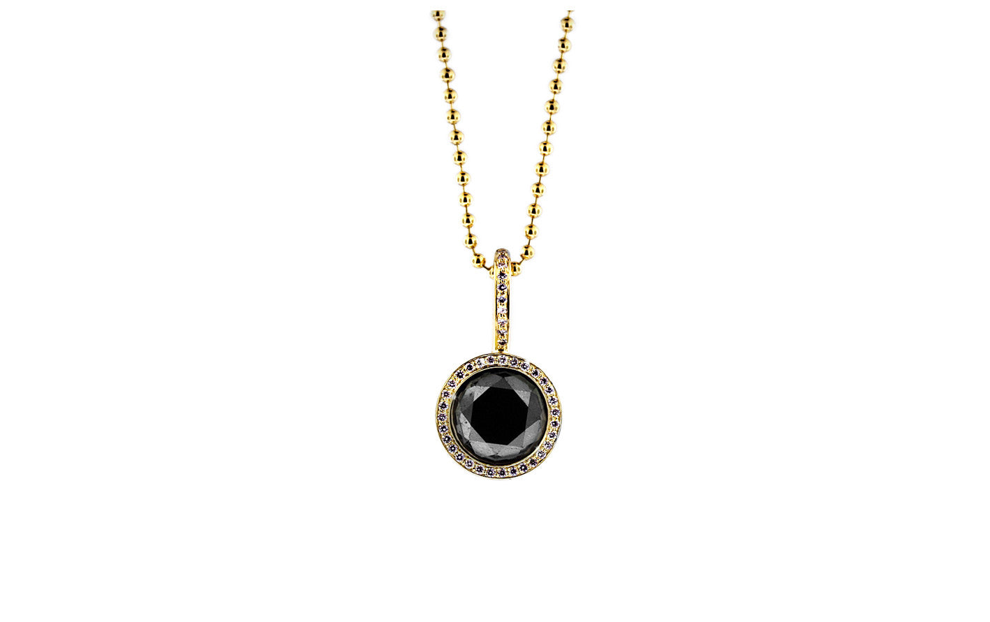 diamond black heart boutique pendant