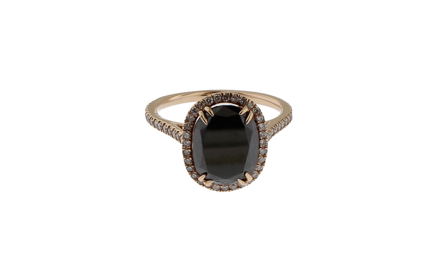 Oval Black Diamond Ring Itay Malkin Jewelry