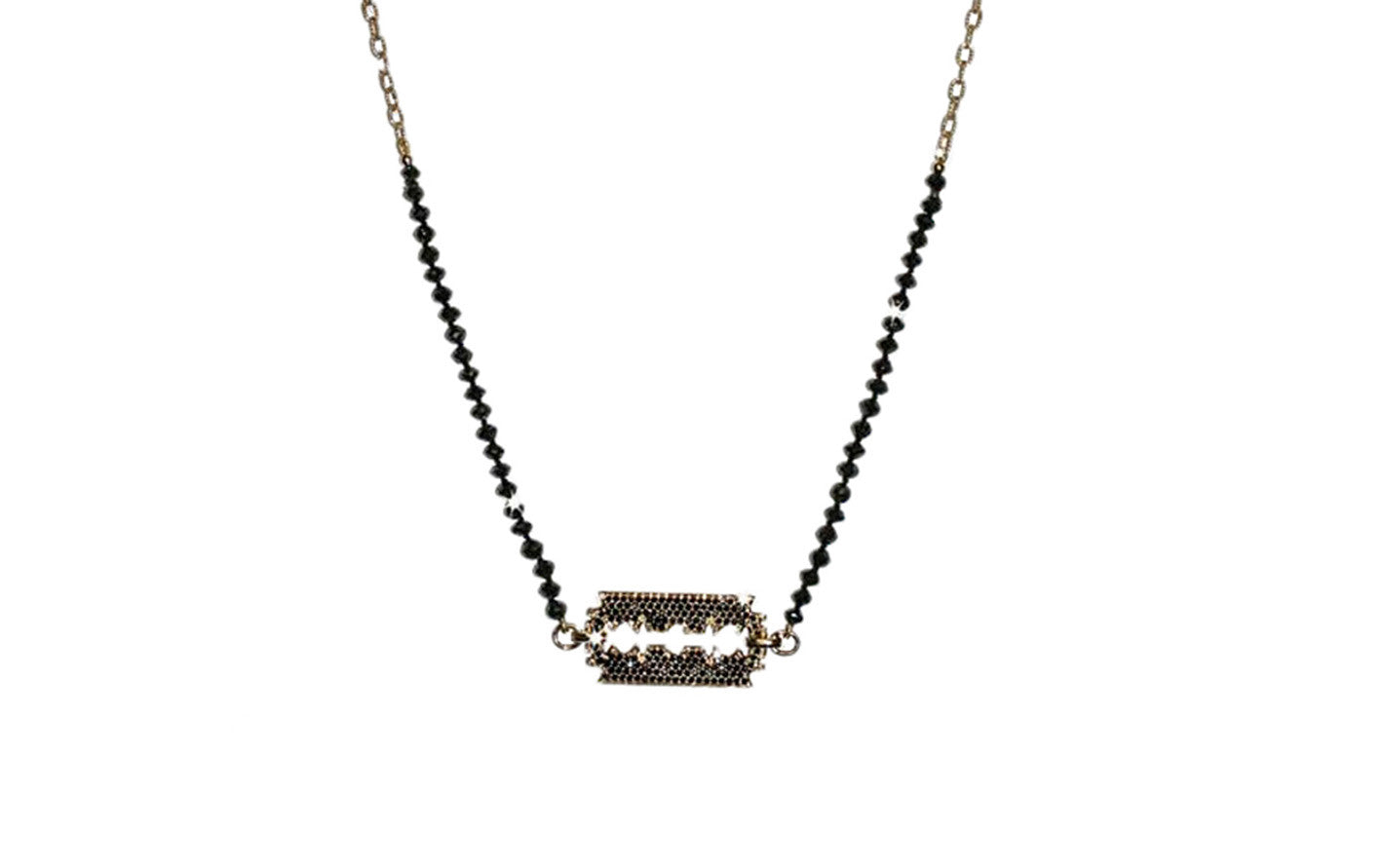 pendant necklace tw pin gold ct kay black white chain diamond