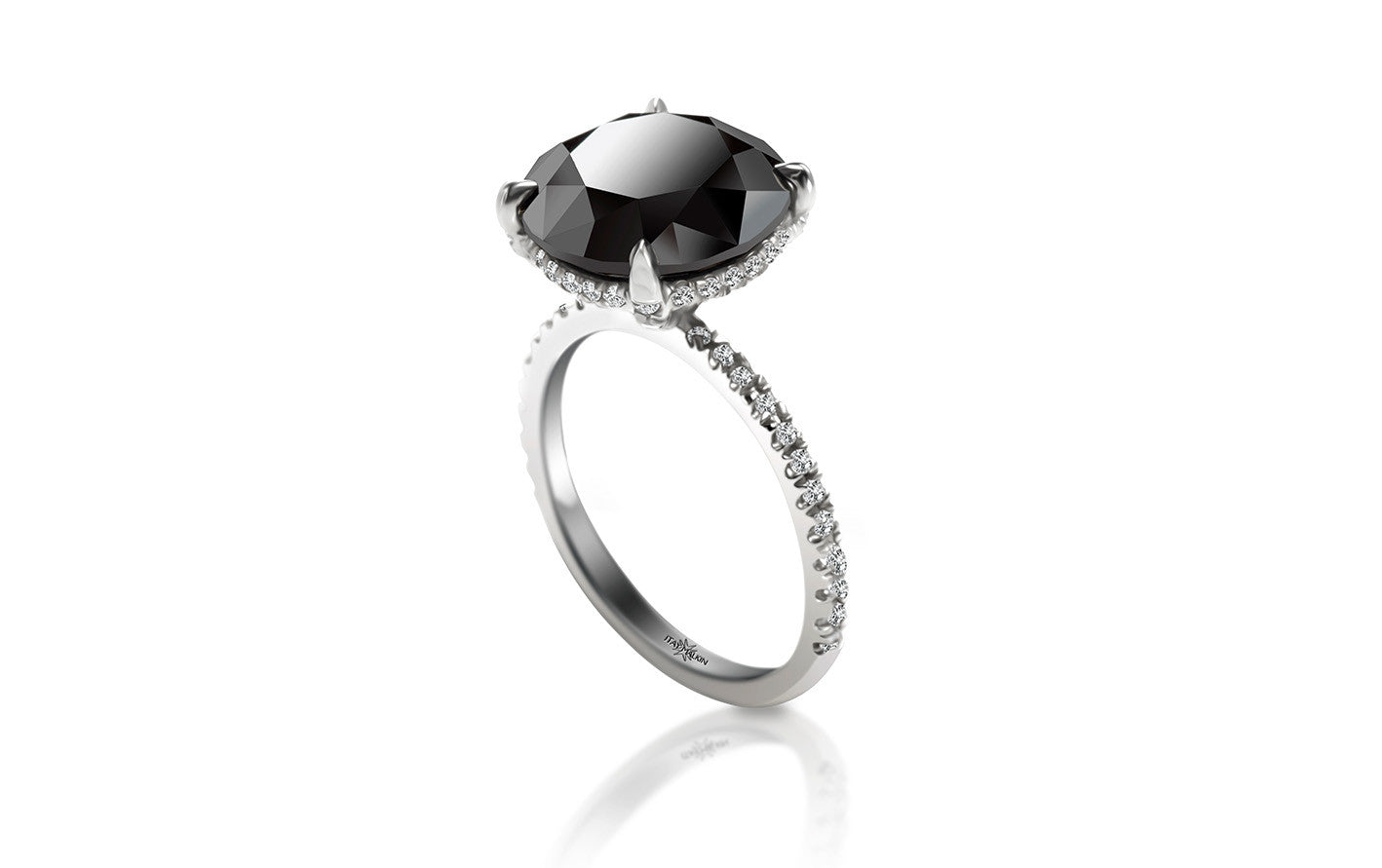 unique carat style pave black gold certified vintage halo cocktail ring rings diamond engagement
