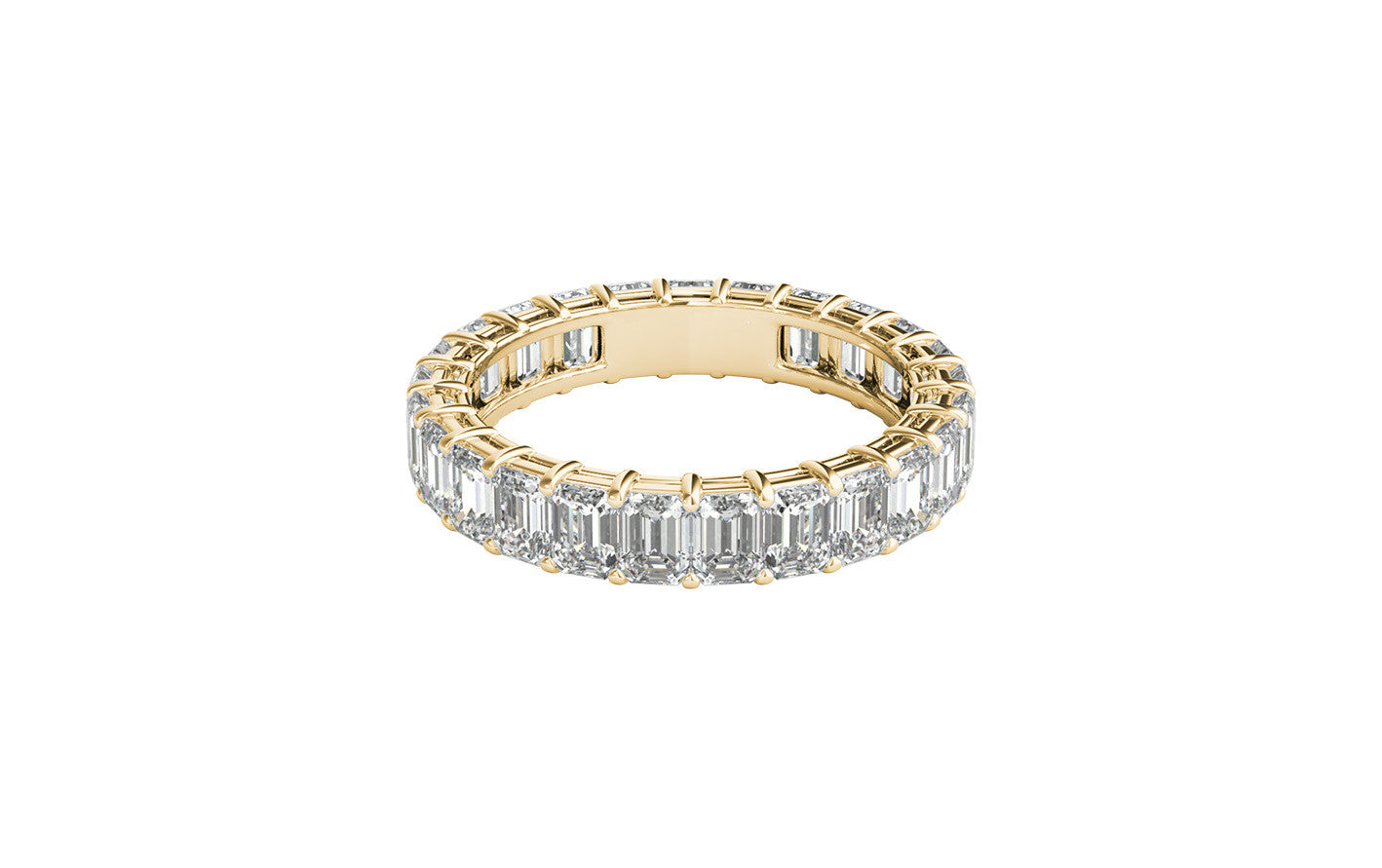 brilliant the diamond collection band bands image gold stone eternity ring cut yellow rings hidden