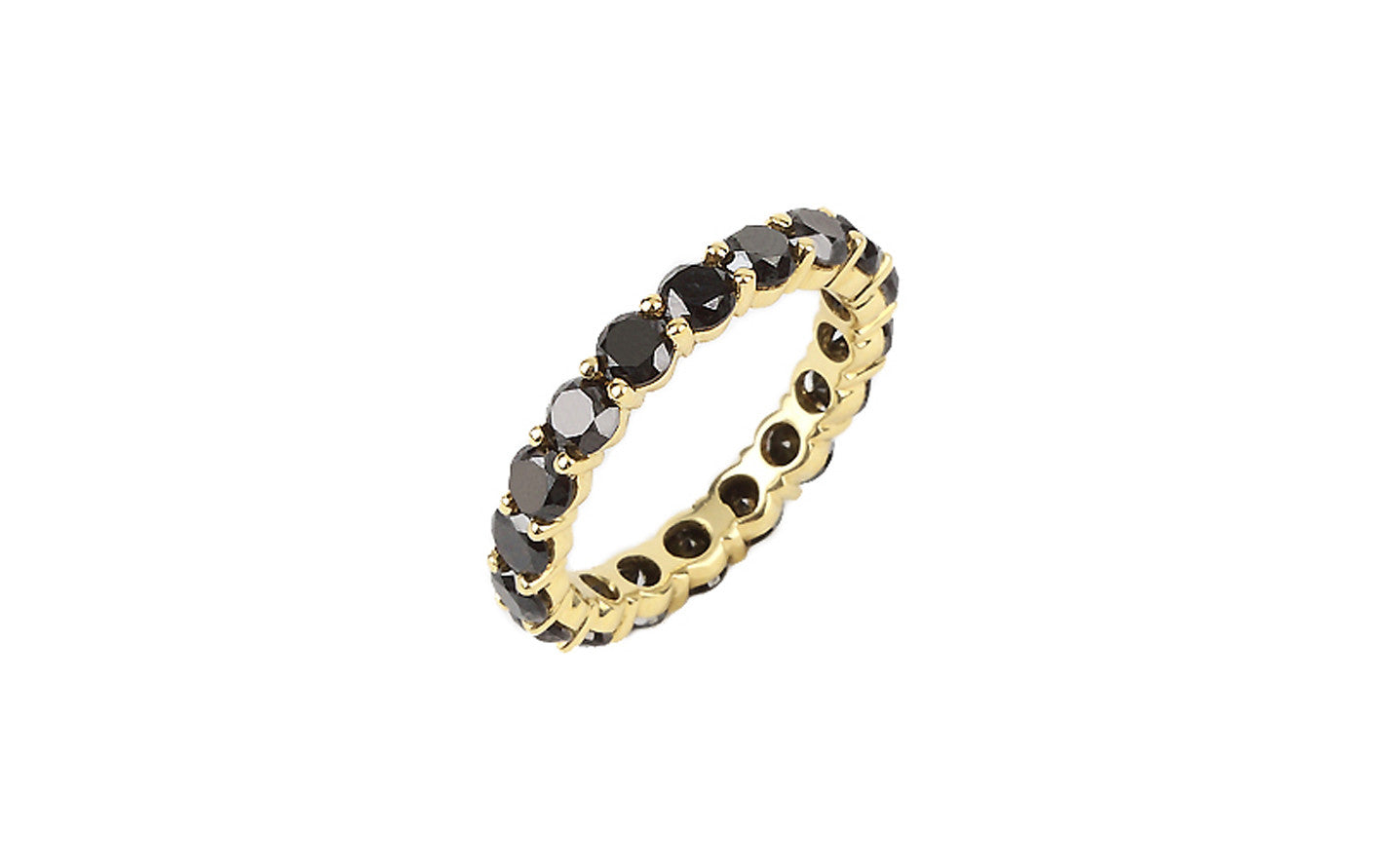 rose channel k in gold set bands carat black diamond eternity band tw jp celina