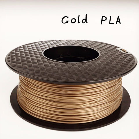 GOLD 3d printer PLA filament - 1.75mm - 1kg reel