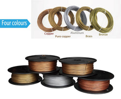 30% METAL (Polishable Brass, Bronze, Copper or Aluminum) - 1.75 mm - 500g reel