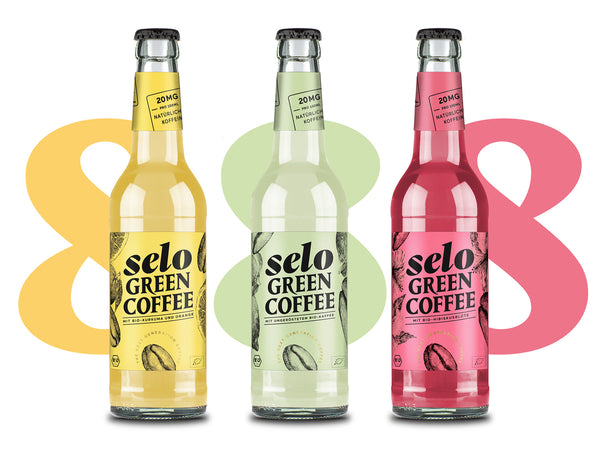 GALILEO Probierpaket selo green coffee | 8 Flaschen pro Sorte