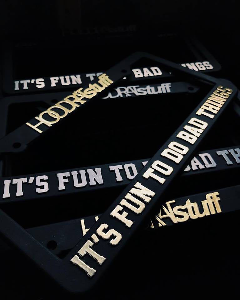 HOODRATstuff | BAD THINGS PLATE FRAME