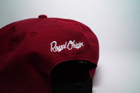 Royal Origin Initials Unstructured 6 Panel Hat