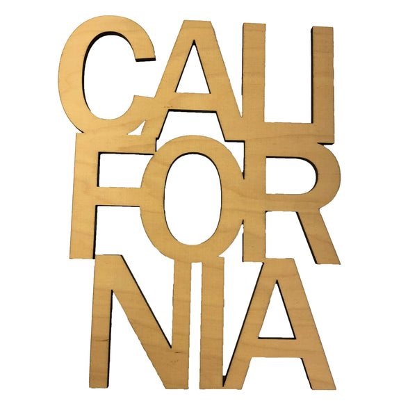 California Stacked Floating Wood Art