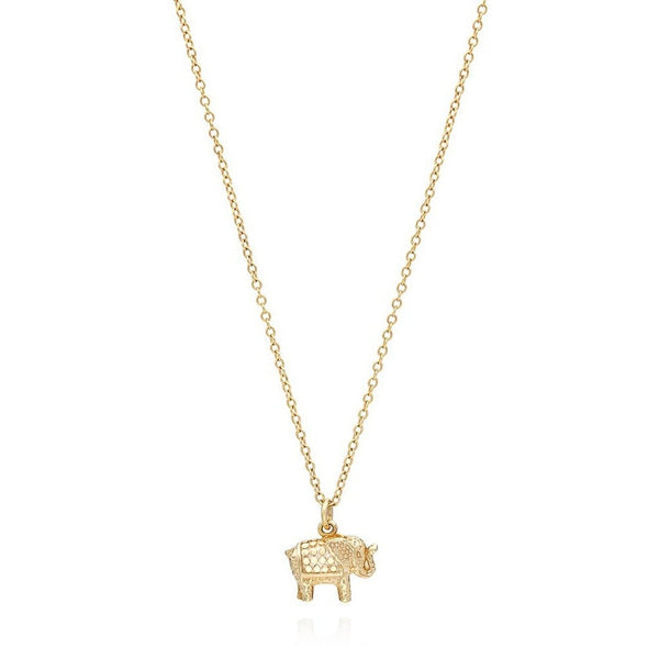 Gold Small Elephant Necklace