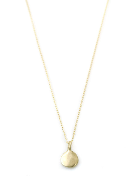 14k tab necklace on 16