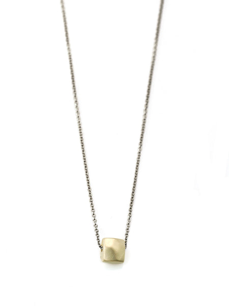 14k faceted square on 16