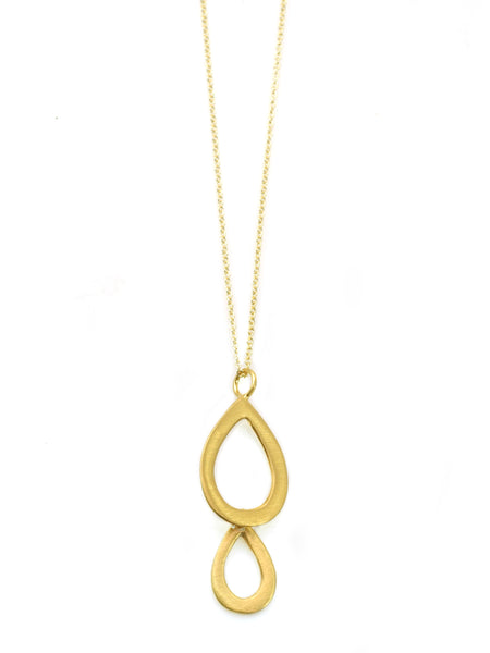 double small drop. vermeil necklace