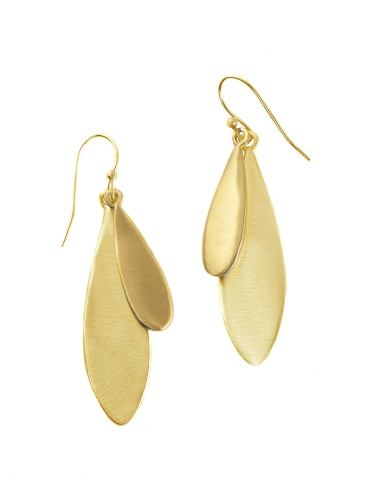 large double drop. vermeil earrings
