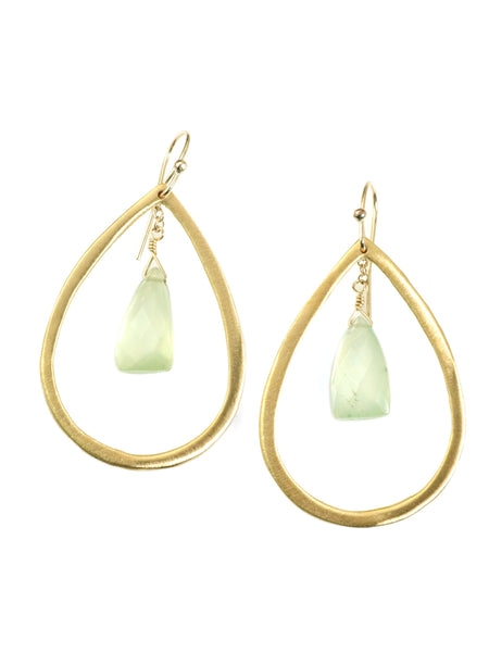 prenite in drop. vermeil earrings