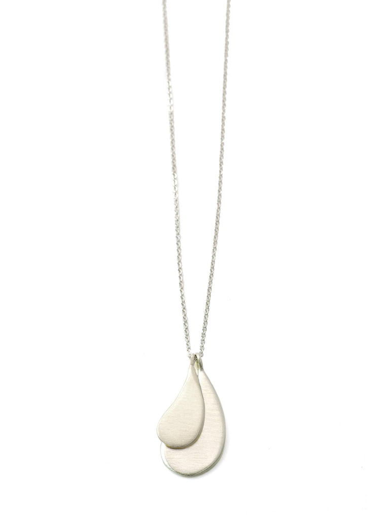 small & med drops. silver necklace - WHOLESALE