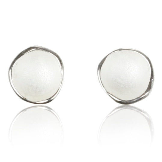 Medium Single Pod Silver Earrings