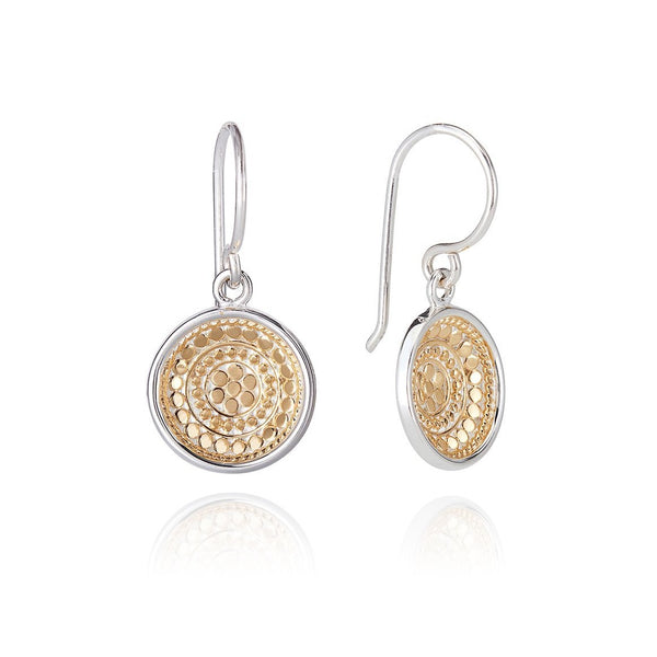 Dotted Dish Drop Earring