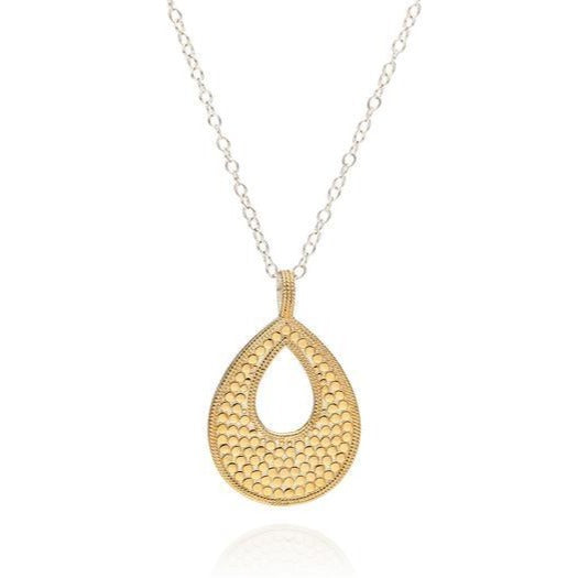 Long Open Drop Pendant Necklace