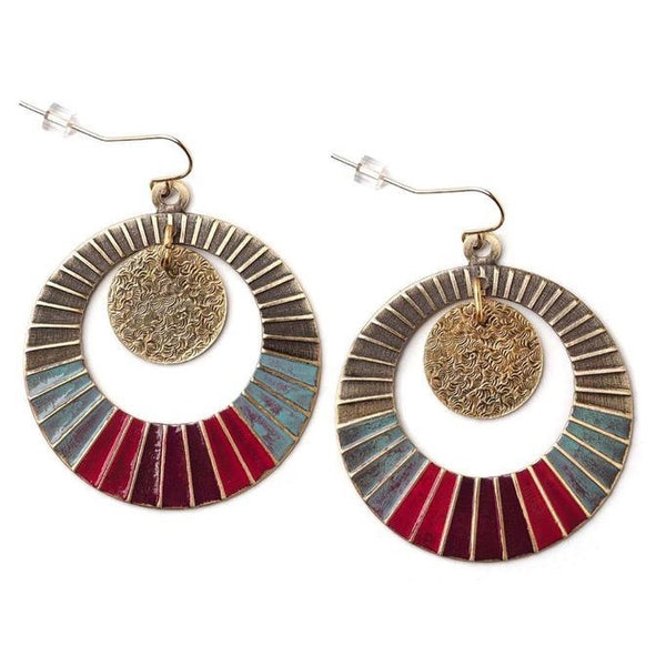 Color Wheel Hoop Earrings