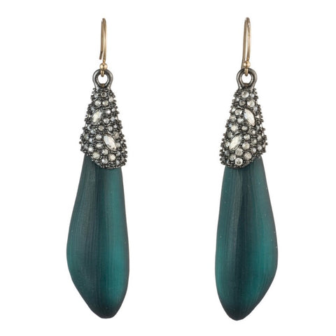 Crystal Crust Cap Wire Earring