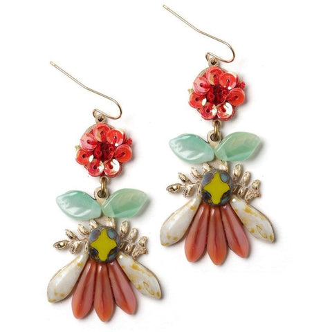 Floral Glitz Earrings