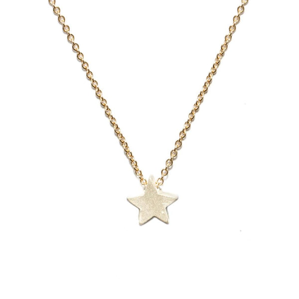 Star Button Necklace