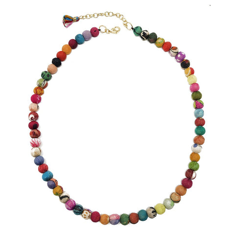 Classic Kantha Strand Necklace