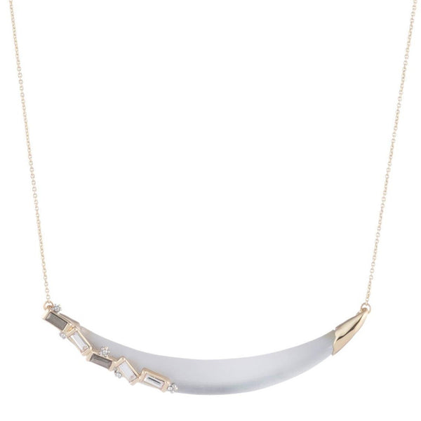 Crystal Baguette Crescent Necklace