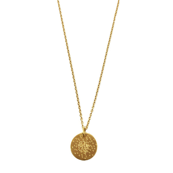 Diamond Dusted Mini Coin Necklace
