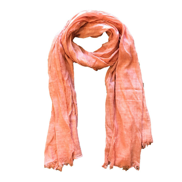 Solid Coral Scarf