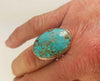 Smooth Turquoise Vertical Oval Ring